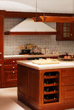 Wooden kitchen detail Stock Photos