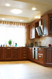 Wooden kitchen furniture Stock Photography