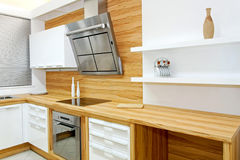 Wooden kitchen horizontal Royalty Free Stock Photo