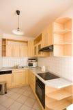 Wooden kitchen royalty free stock photos