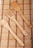 Wooden kitchen set Stock Photography