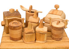 Wooden Kitchen Set Royalty Free Stock Photo