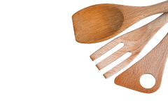 Wooden kitchen shovel Royalty Free Stock Image