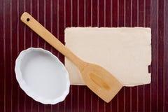 Wooden kitchen shovel Stock Photo