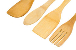 Wooden kitchen shovels Stock Photos