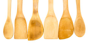 Wooden kitchen shovels Royalty Free Stock Images