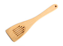 Wooden kitchen spatula Stock Photography