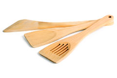 Wooden kitchen spatula Royalty Free Stock Images