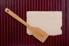 Wooden kitchen spatula Royalty Free Stock Photography