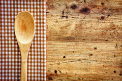 Wooden kitchen spoon Stock Photography