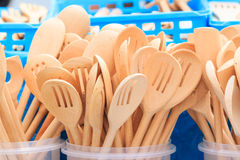 Wooden kitchen spoons Royalty Free Stock Photography