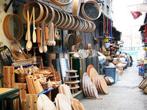Wooden kitchen tools. Shop in Istanbul Stock Photography