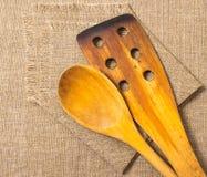 Wooden kitchen tools Royalty Free Stock Photos