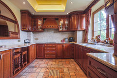 Wooden kitchen unit Stock Photography