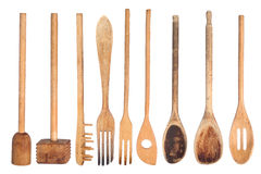 Wooden kitchen utensils Royalty Free Stock Image