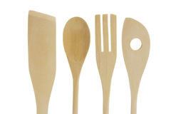 Wooden Kitchen Utensils Stock Photography