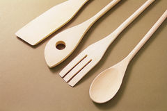 Wooden Kitchen Utensils Stock Image