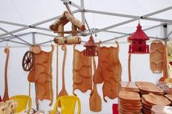Wooden kitchen utensils Stock Images