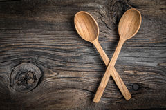 Wooden kitchen utensils. Royalty Free Stock Photo