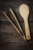 Wooden kitchen utensils. Stock Images