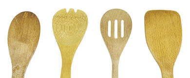 Wooden Kitchen Utensils Isolated Royalty Free Stock Image