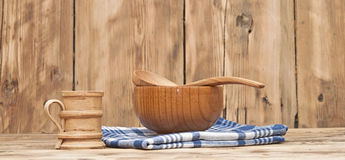 Wooden kitchen utensils Royalty Free Stock Photos