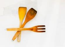 Wooden kitchen utensils Stock Image