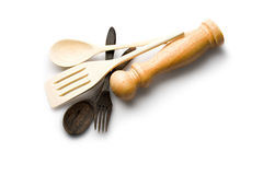 Wooden kitchen-ware Stock Photo