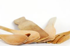 Wooden kitchenware Royalty Free Stock Image