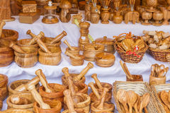 Wooden Kitchenware Stock Image