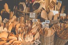 Wooden kitchenware handicrafts Stock Photo