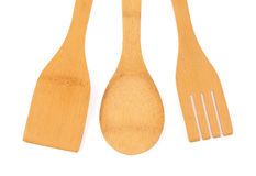 Wooden kitchenware Stock Photography