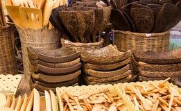 Wooden kitchenware utensils Stock Photography
