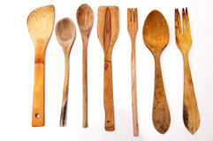 Wooden kitchenware Royalty Free Stock Images