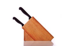 Wooden Knife Block Royalty Free Stock Images