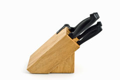 Wooden knife block Stock Photography
