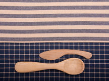 Wooden knife and spoon Stock Photography