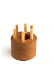 Wooden Knitting Dolly Stock Images