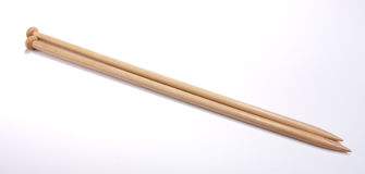 Wooden Knitting Needles Royalty Free Stock Photos