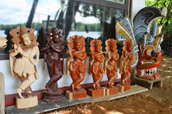 Wooden Krishna statues Stock Image