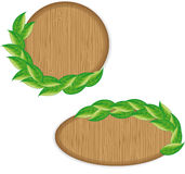 Wooden labels Stock Image
