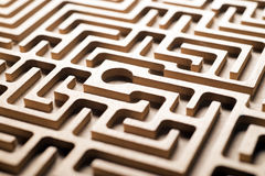 Wooden labyrinth Stock Photos