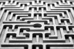 Wooden labyrinth Royalty Free Stock Photography