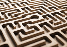 Wooden labyrinth Royalty Free Stock Photo