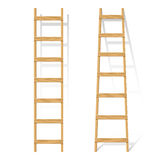 Wooden ladder. Vector illustration of a wooden ladder vector illustration