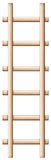 A wooden ladder. Illustration of a wooden ladder on a white background Royalty Free Stock Photography