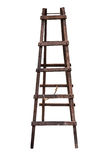 Wooden ladder isolated. Stock Photo