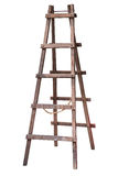 Wooden ladder isolated. Wooden ladder isolated on white background, work clipping path Royalty Free Stock Photo