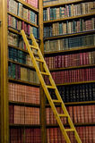 Wooden ladder in the library Stock Photography