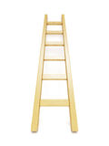 Wooden ladder near white wall Stock Images